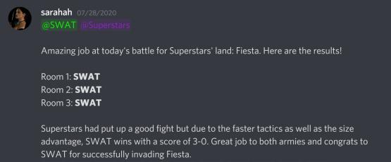 Fiesta Results